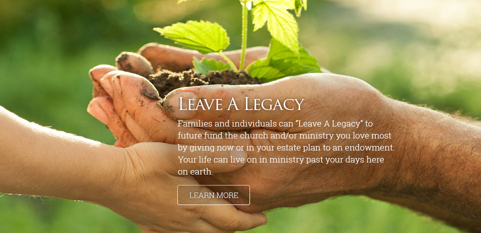 Leave A Legacy (hands and plant)